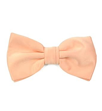 Apricot Peach Coral bowtie bow men/'s mens