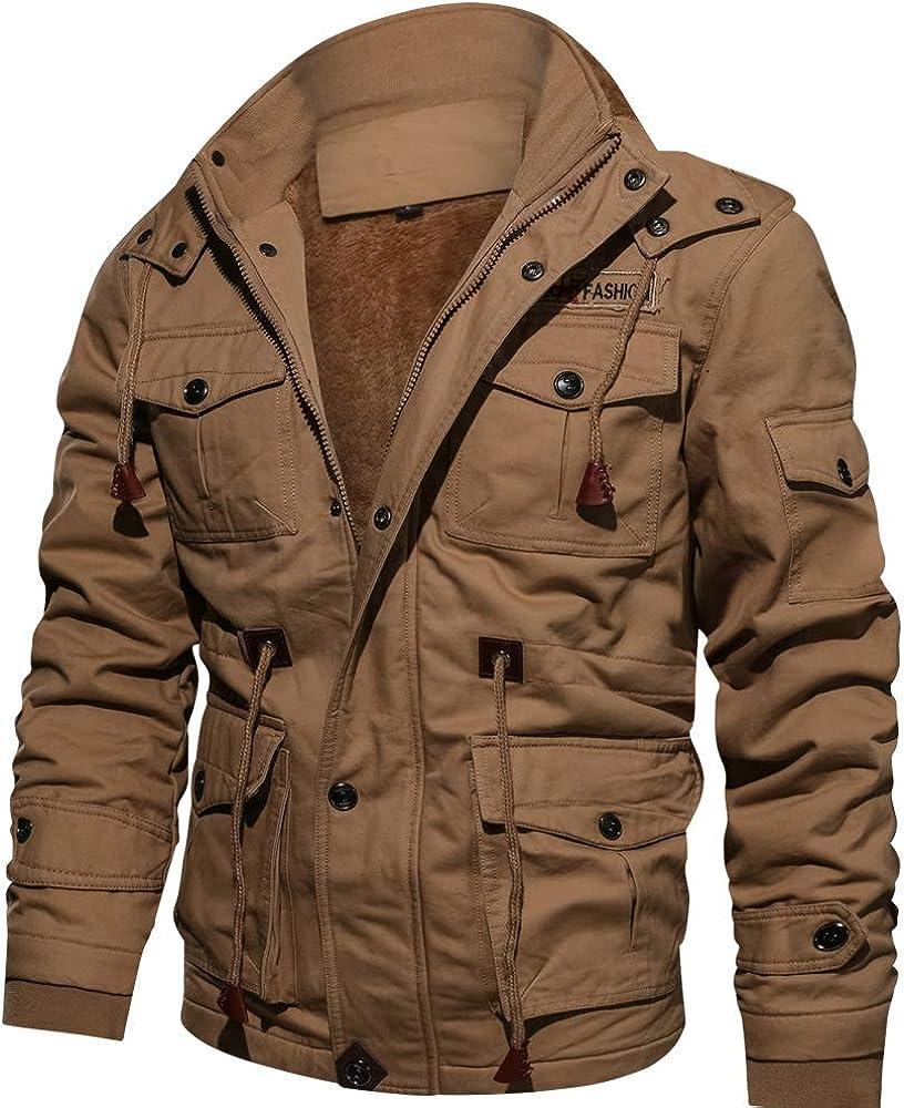 Beloved Men Autumn Cotton Warm Slim Fit Thicken Hooded Coat