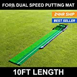 FORB Dual-Speed Golf Putting Mat (10ft x 1ft) - Perfect Your Putting On The Go With This Easy To Manoeuvre Mat [Net World Sport]