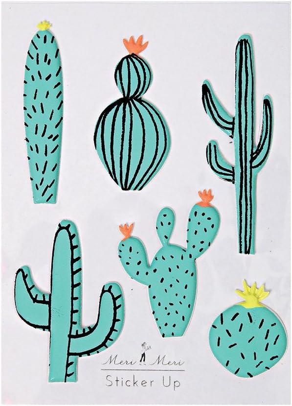 Meri Meri Cactus Puffy Stickers