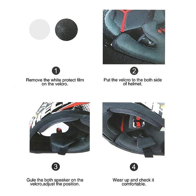 EJEAS E200 - Auriculares intercomunicadores para casco de motocicleta, con micrófono, para montar en bicicleta, compatible con llamadas de teléfono, música, ...