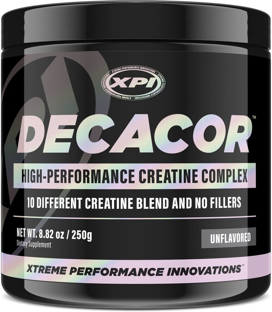 Decacor Creatine 50 Serv – 10 Creatine Blend – Best Creatine Powder Available – Enhance Muscles, Power and Recovery