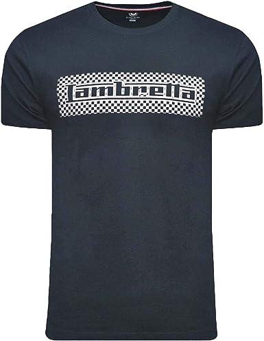 Lambretta Two Tone Logo tee Camiseta para Hombre: Amazon.es: Ropa y accesorios