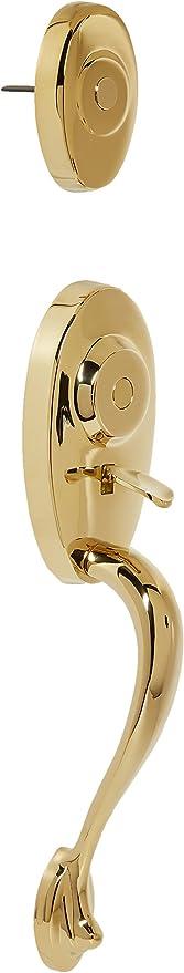Weslock 01345 B 0020 Lexington 1300 Series Entry Handle Polished Brass Doorknobs Amazon Com