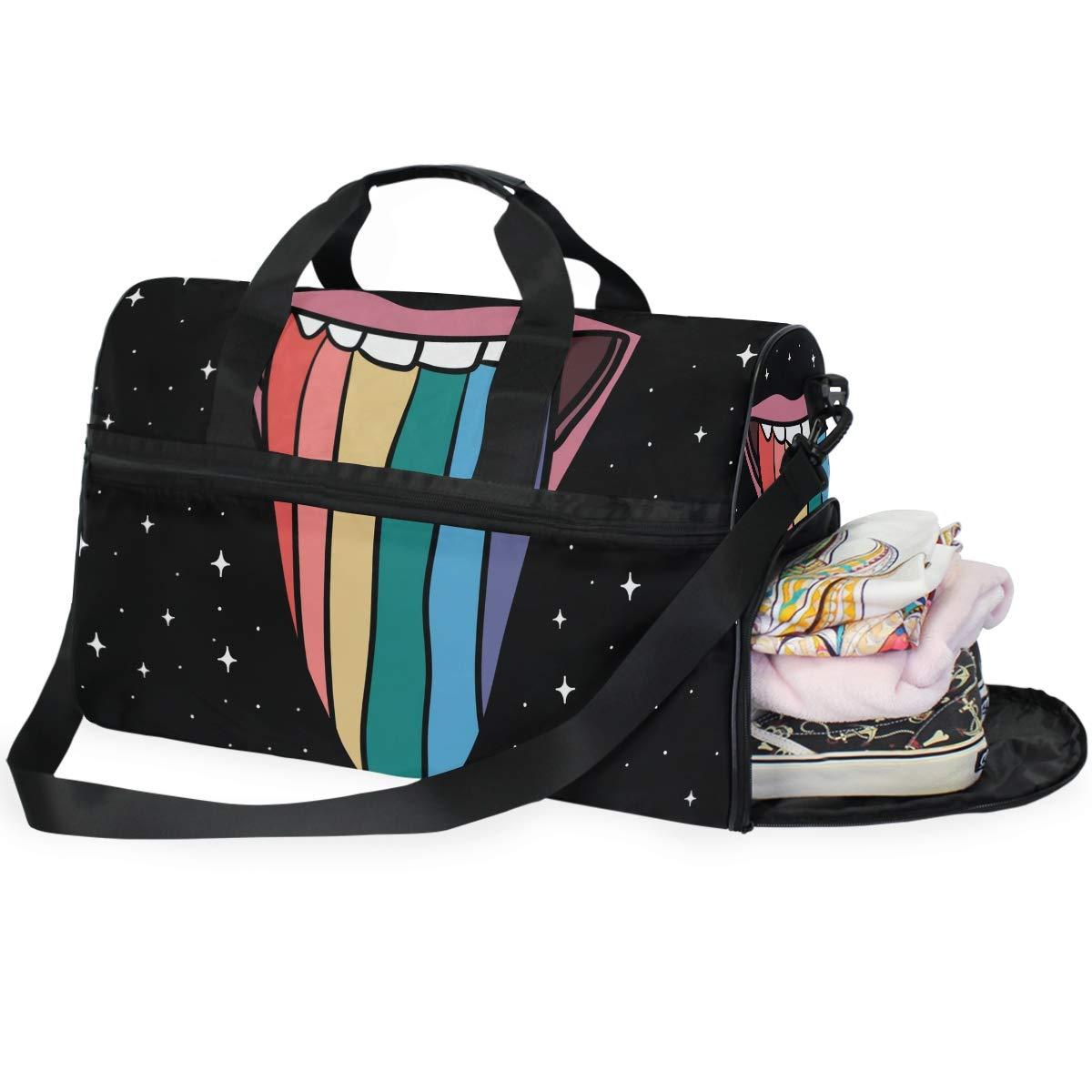 Lightweight Large Capacity Portable Duffel Bag for Men /& Women Flames Guitar Travel Duffel Bag Backpack JTRVW Luggage Bags for Travel