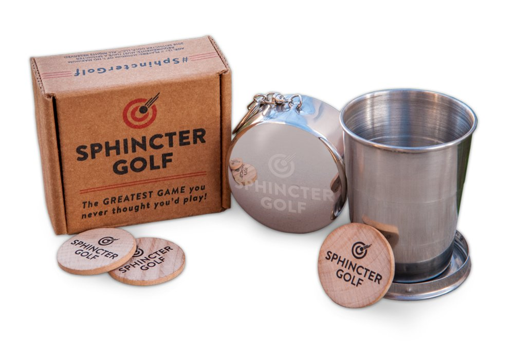 Sphincter Golf Game Set. Party Game, Novelty Gift, Awkward Family Gatherings, White Elephant, Gag Gift. Absurd Yet Highly Amusing. by Sphincter Golf