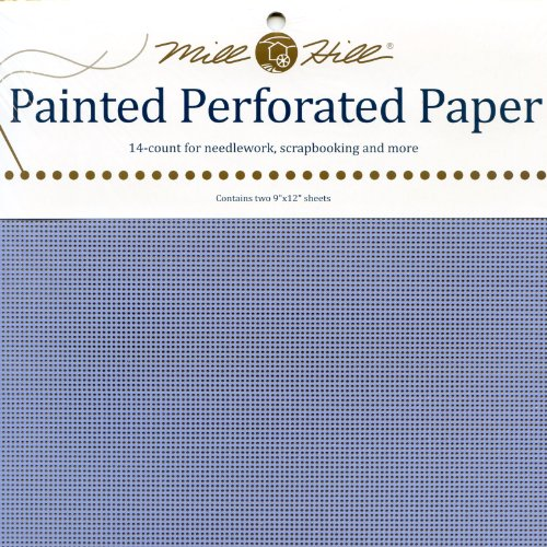 Mill Hill 14 Count Painted Perforated Paper, 9 by 12-Inch, Sky Blue