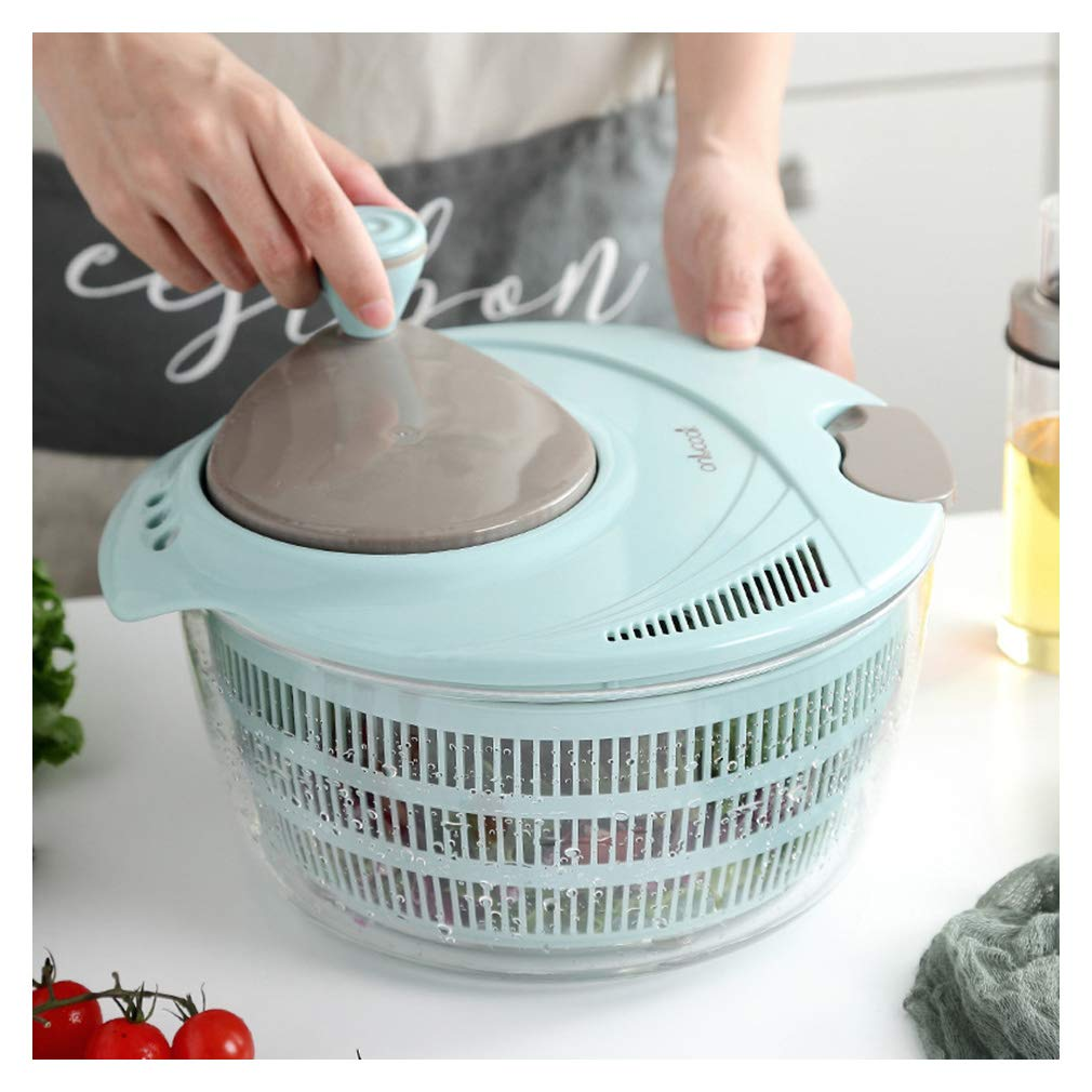 TIM-LI Salad Spinner - Large Fruits and Vegetables Dryer Quick Dry, BPA Free Vegetable with Ease for Tastier Salads and Faster Food Prep,L by TIM-LI