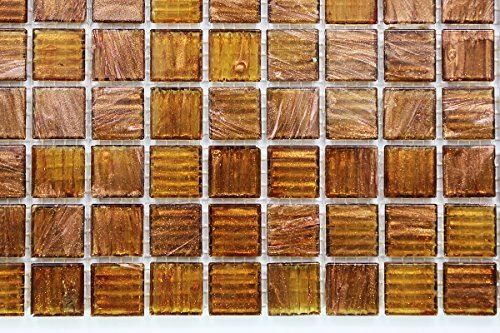 (Glossy Copper Glitter Shiny Glass Mosaic Tiles for Bathroom and Kitchen Walls Kitchen Backsplashes)