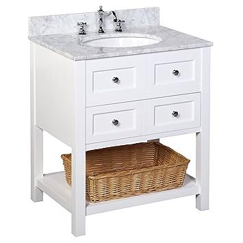 Kitchen Bath Collection KBC11530WTCARR New Yorker Bathroom Vanity ...