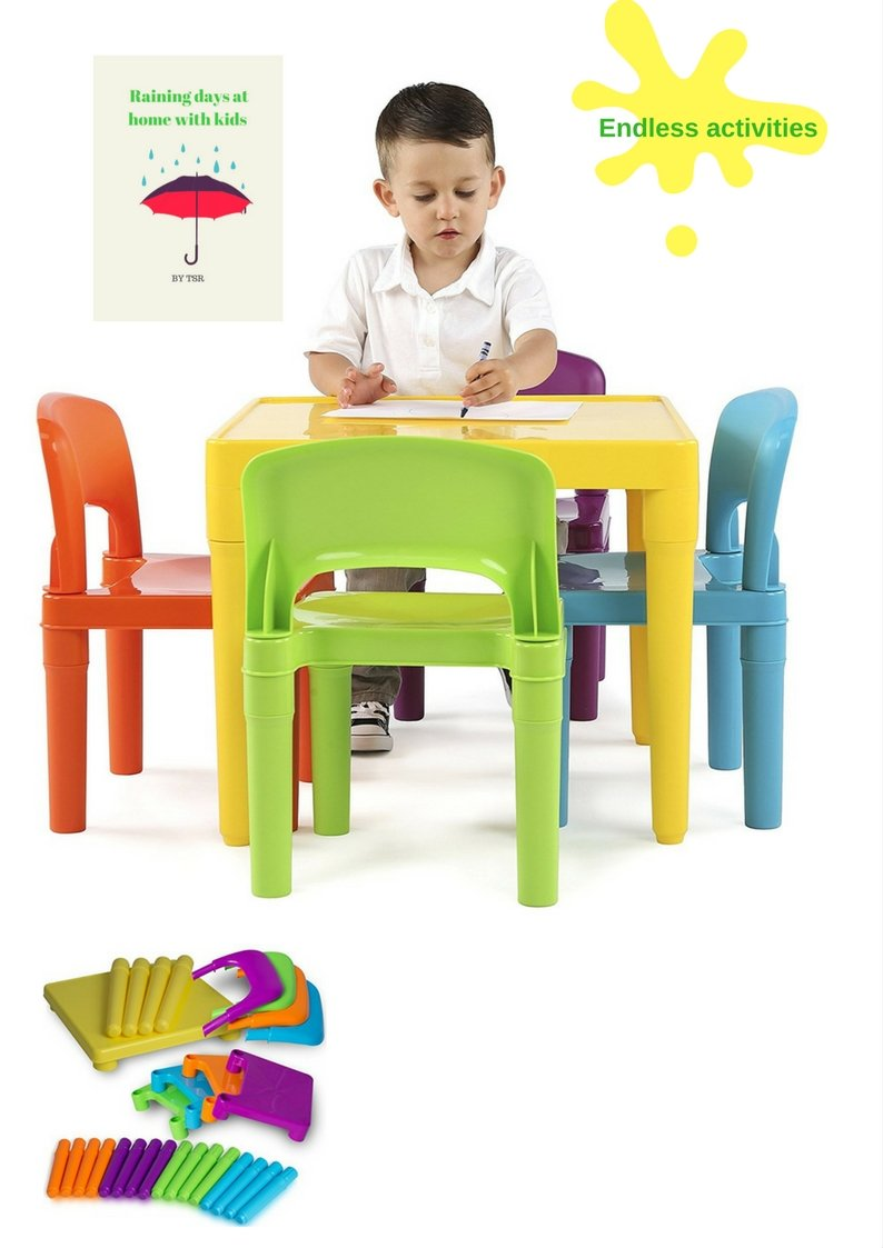 Kids Activity Table And Chairs Lightweight And Colorful Table For Kids With Chairs For Enjoyable Activities And E- book By TSR