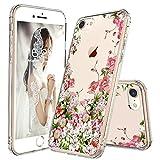 iPhone 7 Case, iPhone 8 Case Egotude Floral Design Hard Back Transparent Cover Case for Apple iPhone 7/iPhone 8 (Floral)