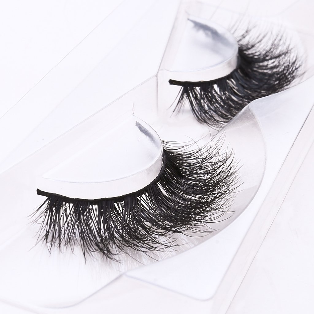 Amazon Luxury 3d Synthetic Faux Mink Lashes Volume Silk Angel
