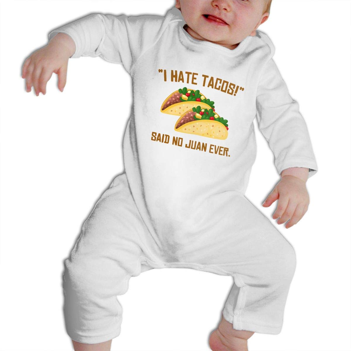 Cami I HATE TACOS Said No Juan Ever Baby Boys Girls Long Sleeve Onesies Infant Bodysuit Baby For 6-24months