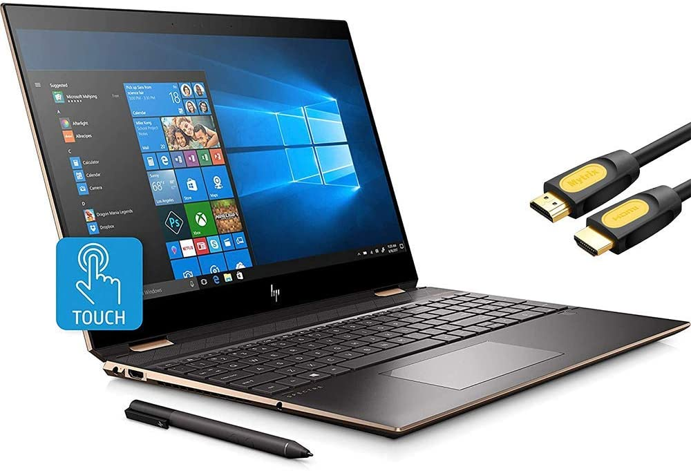 HP Spectre x360 2-in-1 Touchscreen Laptop, 4K UHD 15.6