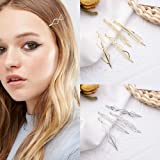 8 Pcs Metal Geometric Hair Pins Minimalist Dainty Triangle Rhombus Hair Clip Clamps Accessories Barrettes Bobby Pin for…