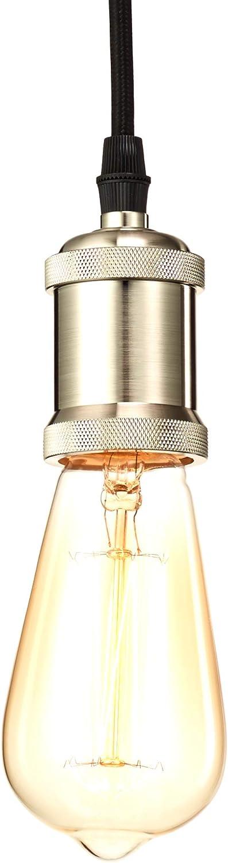 Home Luminaire 31688 Trillium Exposed Socket Pendant, One Size, Brushed Steel Finish