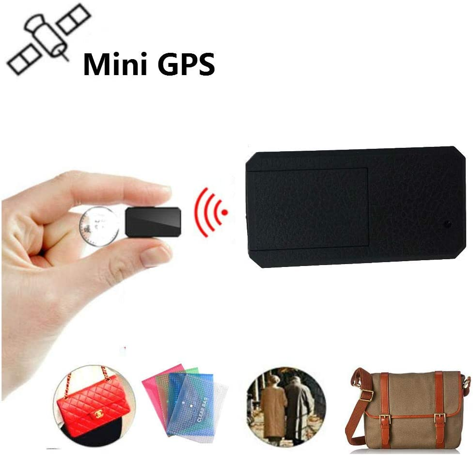 Winnes Mini GPS Tracker, Magnético Micro GPS Ortung Anti Theft Tiempo Real GPS Locator para Bolso Cartera Bolsillos Escolares. Documentos Importantes Perdido Localizador Tracker TK901 Negro