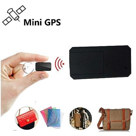Winnes Mini GPS Tracker, Magnet Micro GPS Ortung Anti Theft Echtzeit GPS Locator für Handtasche Brieftasche Taschen Schulranz