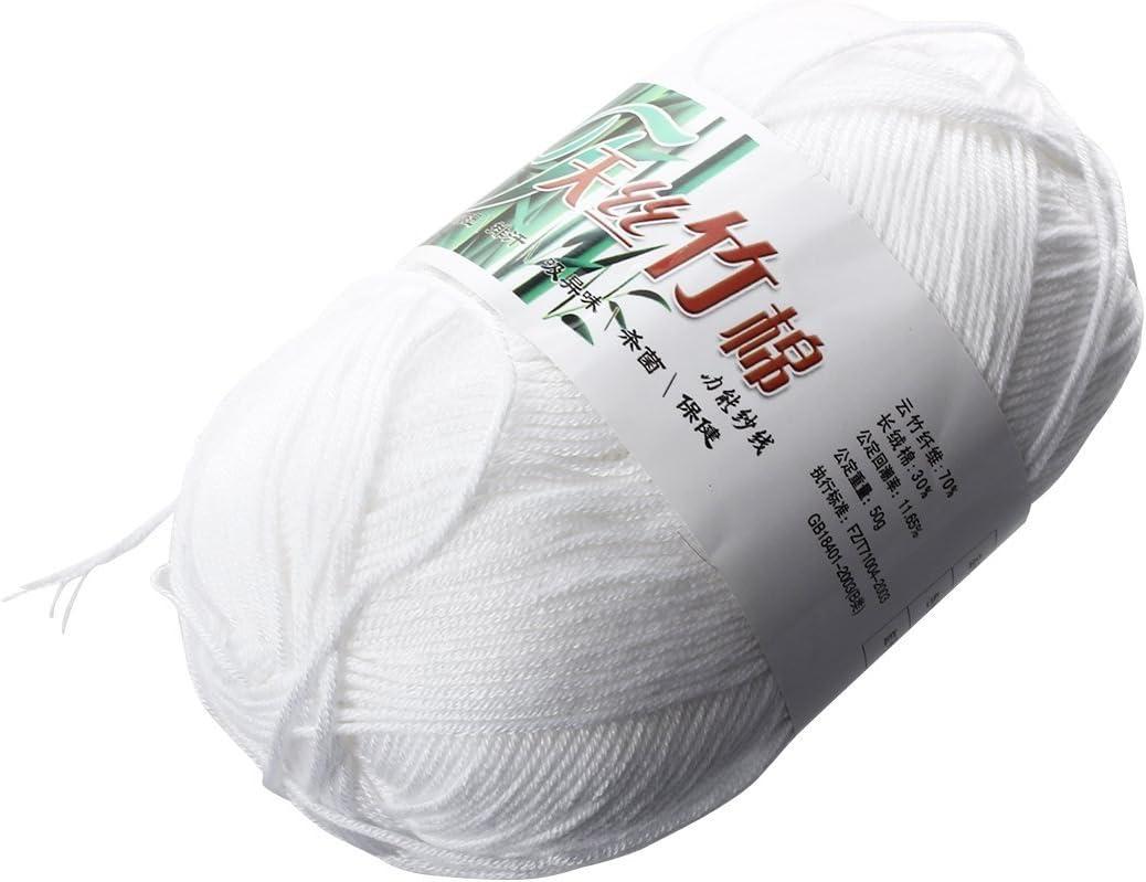 SODIAL(R) Tencel Bambu Hilados De Algodon Para Bebes - Blanco: Amazon.es: Juguetes y juegos