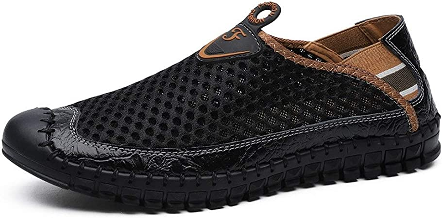 Hommes Mocassin Chaussures Slip On Mesh Casua Chaussures Confortable Homme Plat Respirant