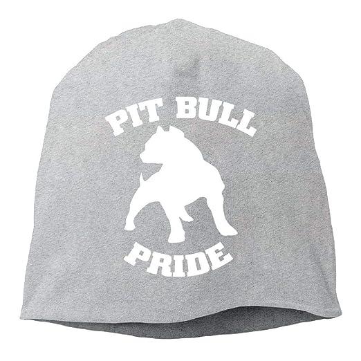 e97e2710b98 SHA45TM Pitbull Pride Men Women Winter Helmet Liner Fleece Skull Cap Beanie  Hat for Running Ash