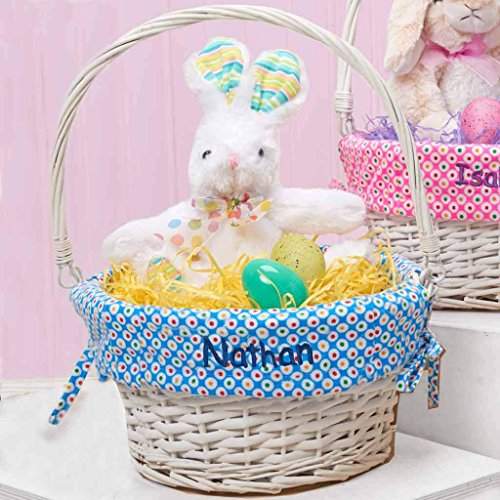 Personalized Colorful Dots Easter Basket - Basket Pattern Easter