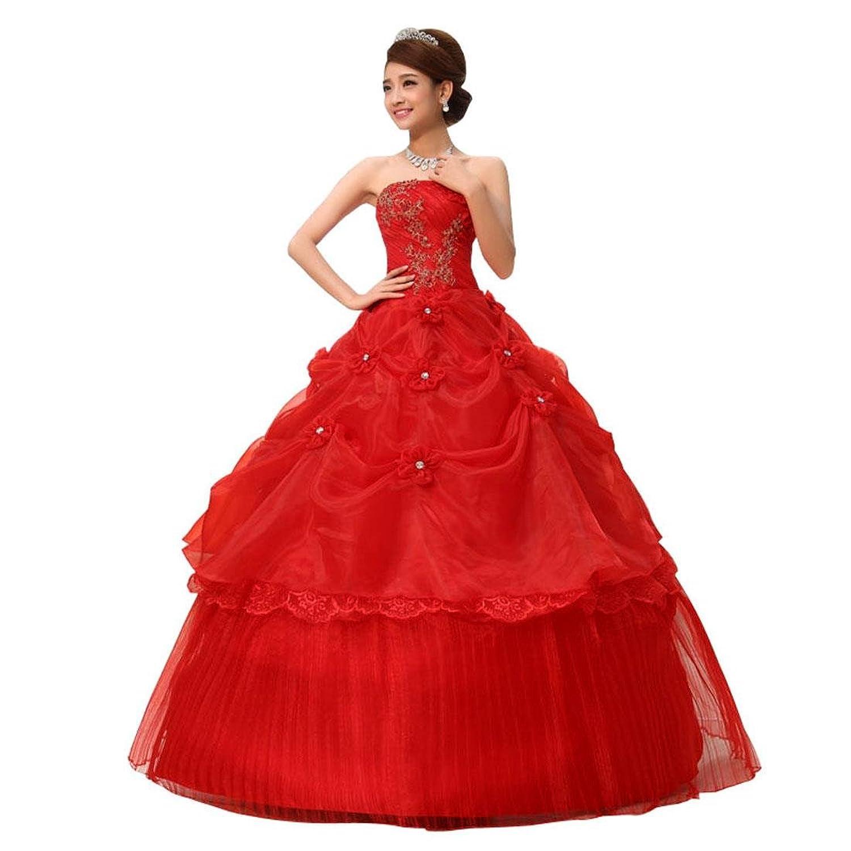jeansian Damen Liebsten formales Hochzeits-Kleid-Abschlussball-Kleid Hemd Tops WVA014