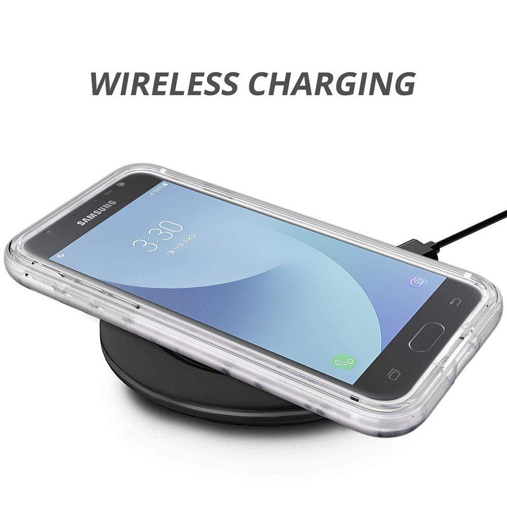 Ultra-Mince Marbre Motif Etui 360 Tout Le Corps Degr/és Protection Housse Premium Transparent Bumper Coque Antichoc Anti-Rayures Blanc Or J330 Coque Compatible avec Samsung Galaxy J3 2017