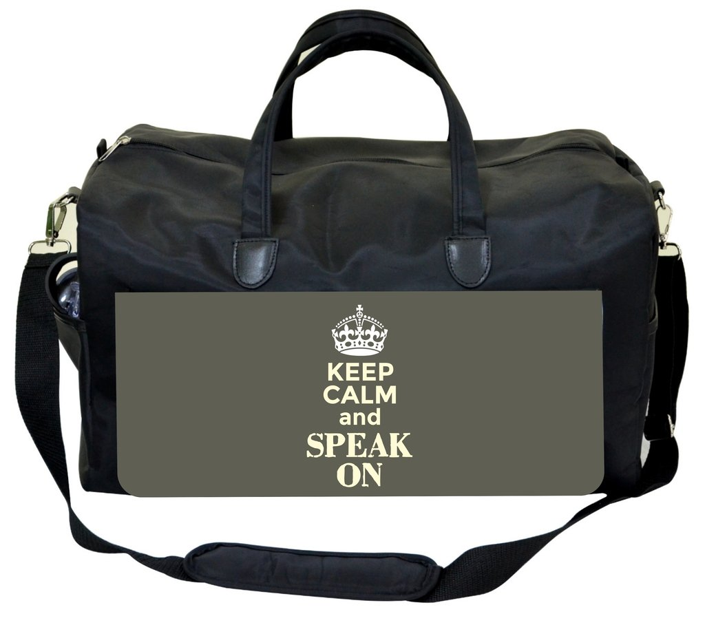 Keep Calm and Speak On Jacks Outlet Speech Therapist Bag