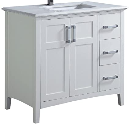 White Bathroom Vanity on 36 white vanity with top, 36 white single vanity, 36 white cabinets, 36 inch wall mount vanity, utility sink vanity, 36 white kitchen sink, allen roth 36-in vanity, 36 inch white vanity, pottery barn double sink vanity,