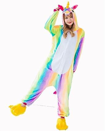 d46660265cb2 Amazon.com  NHockeric Adult Unicorn Onesie Pajamas Unisex Kids ...
