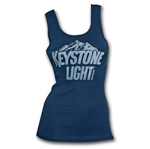 12de738bfd6 Keystone Light Logo Navy Ladies Graphic Tank Top Small Blue at ...