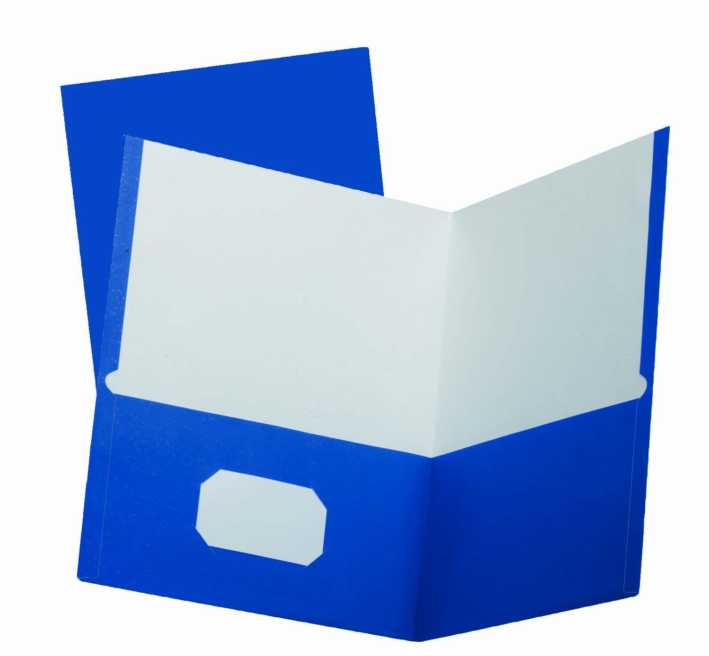 Oxford School Grade Twin Pocket Folders, 25 Per Box, Blue (50754 )