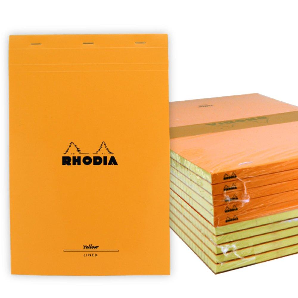 Rhodia Staplebound Book 8.25X12.5 Orange Lined 10Pk by Rhodia