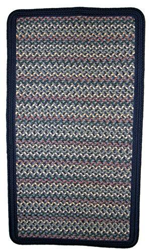 Thorndike Mills Pioneer Valley II Meadowland Blue with Dark Blue Solids Square 10' X 10' Braided Rug - Meadowland Blue Braided Rug