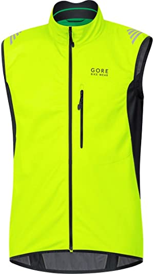 GORE BIKE WEAR Men's Soft Shell Cycling Vest, GORE WINDSTOPPER, Vest, Size: XXL, Black, VWELEM
