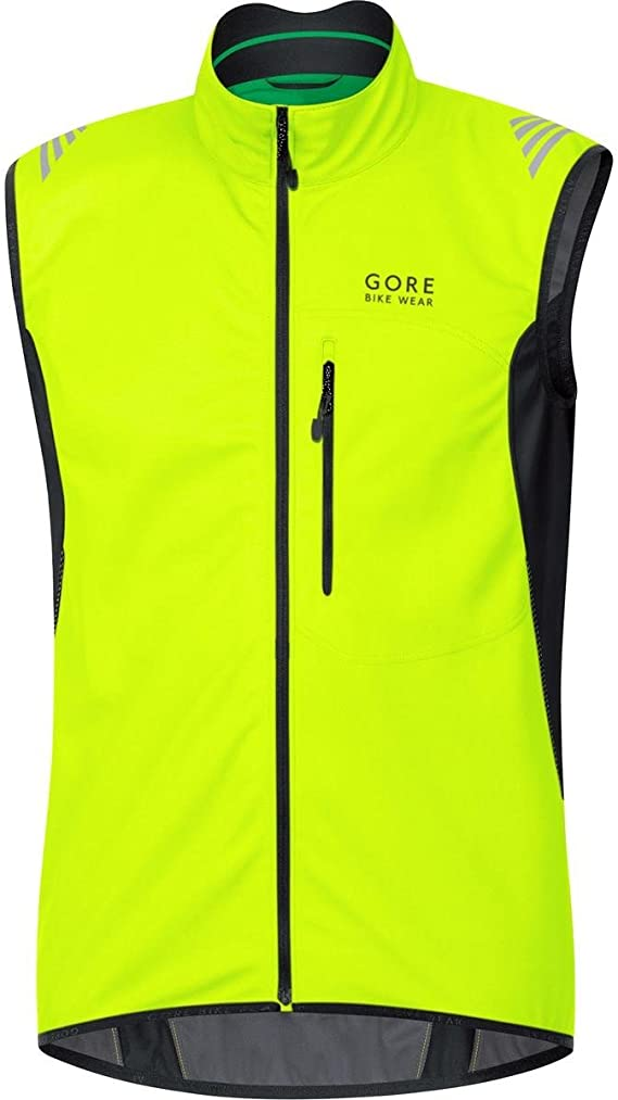 GORE BIKE WEAR Men's Soft Shell Cycling Vest, GORE WINDSTOPPER, Vest, Size: XXL, Black, VWELEM