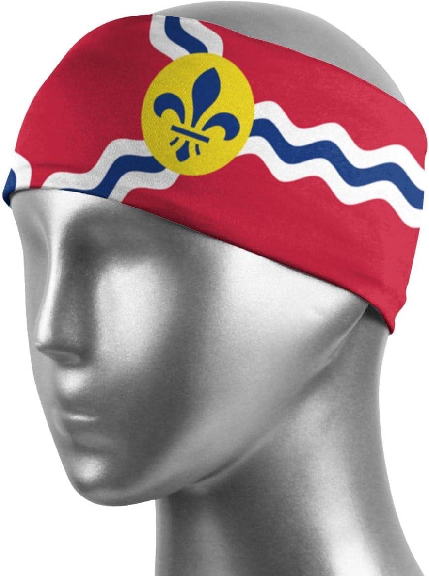 WARmin Flag of St. Louis Sports Banda para el Sudor Bandana Banda para la Cabeza Banda para la Cabeza de Secado rápido Sudadera Unisex