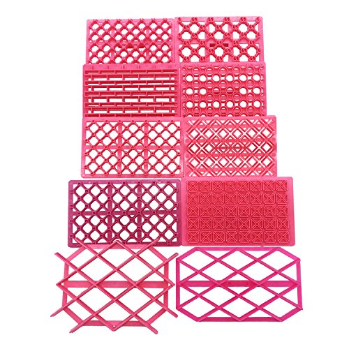 - 10pcs Cake Decorating Tools Diamond Sugar Gumpaste Icing Baking Quilt Fondant Cake Raft Equipment Tool Embosser Cookie Cutter Stamp Icing Embosser Mold