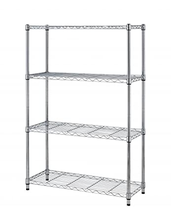 Awesome 36x14x54 4 Tier Layer Shelf Adjustable Steel Wire Metal Shelving Rack By  BestOffice