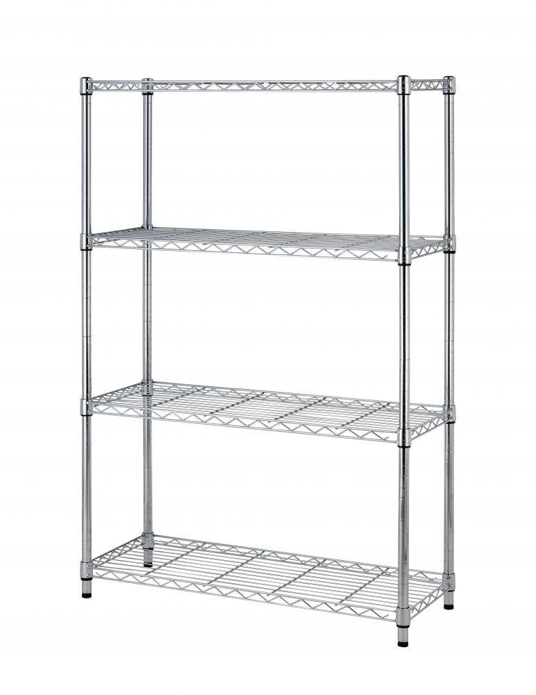 BestOffice 36''x14''x54'' 4 Tier Layer Shelf Adjustable Steel Wire Metal Shelving Rack