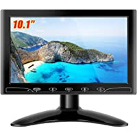 Beyi 10.1'' inch Monitor Small Portable Color Display Screen, 1024X600 LED Screen Bracket&Remote Control with HDMI/VGA…