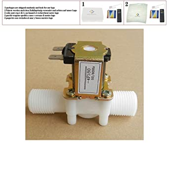 Plastic Solenoid Valve 12v 24v 220v Electric Magnetic Water Control Valve Switch Normally Closed 1 2 Ac 220v 1 2 Amazon Com Industrial Scientific
