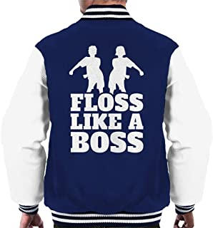 Floss Like A Boss Slogan Dancers Men's Varsity Jacket