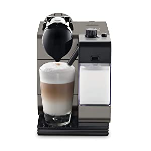 Nespresso Lattissima Plus Original Espresso Machine with Milk Frother by De'Longhi, Titanium