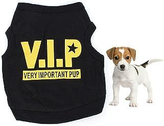 NewNew Small Dog Puppy VIP Pattern Clothing Pet Clothes T Shirt Vest Jumper Coat (L