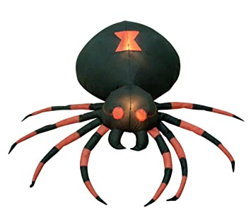 4 foot wide halloween inflatable black spider yard decoration - Halloween Spider Decoration