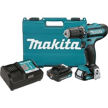 Makita FD05R1 12V Max CXT Lithium-Ion Cordless Driver-Drill Kit, 3/8