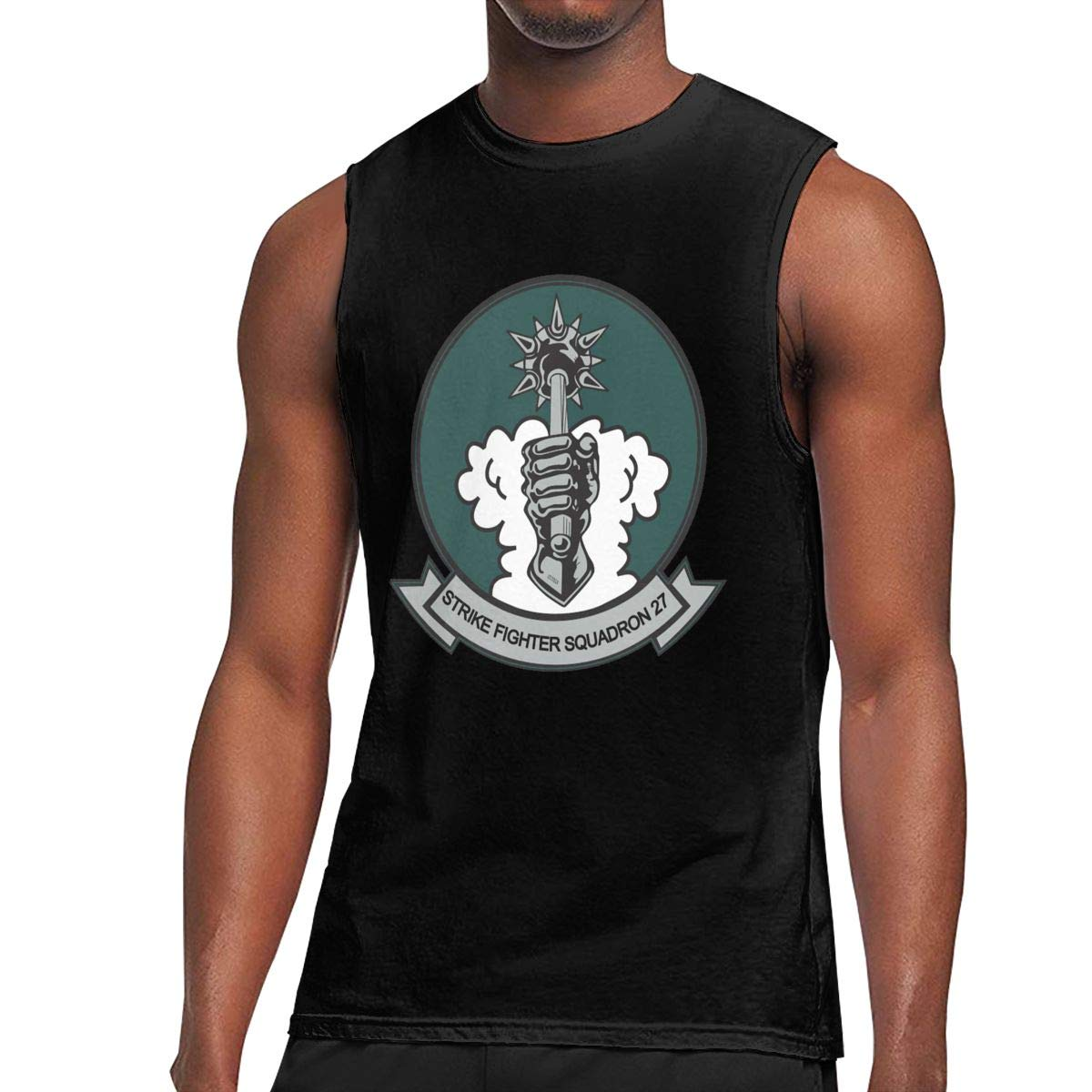 Mens VFA-27 Royal Maces Muscle Workout Corset Vest Shirt
